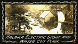 Kalama Electric Light and Water Cos plant on the Kalama River Washington State circa 1900-1910